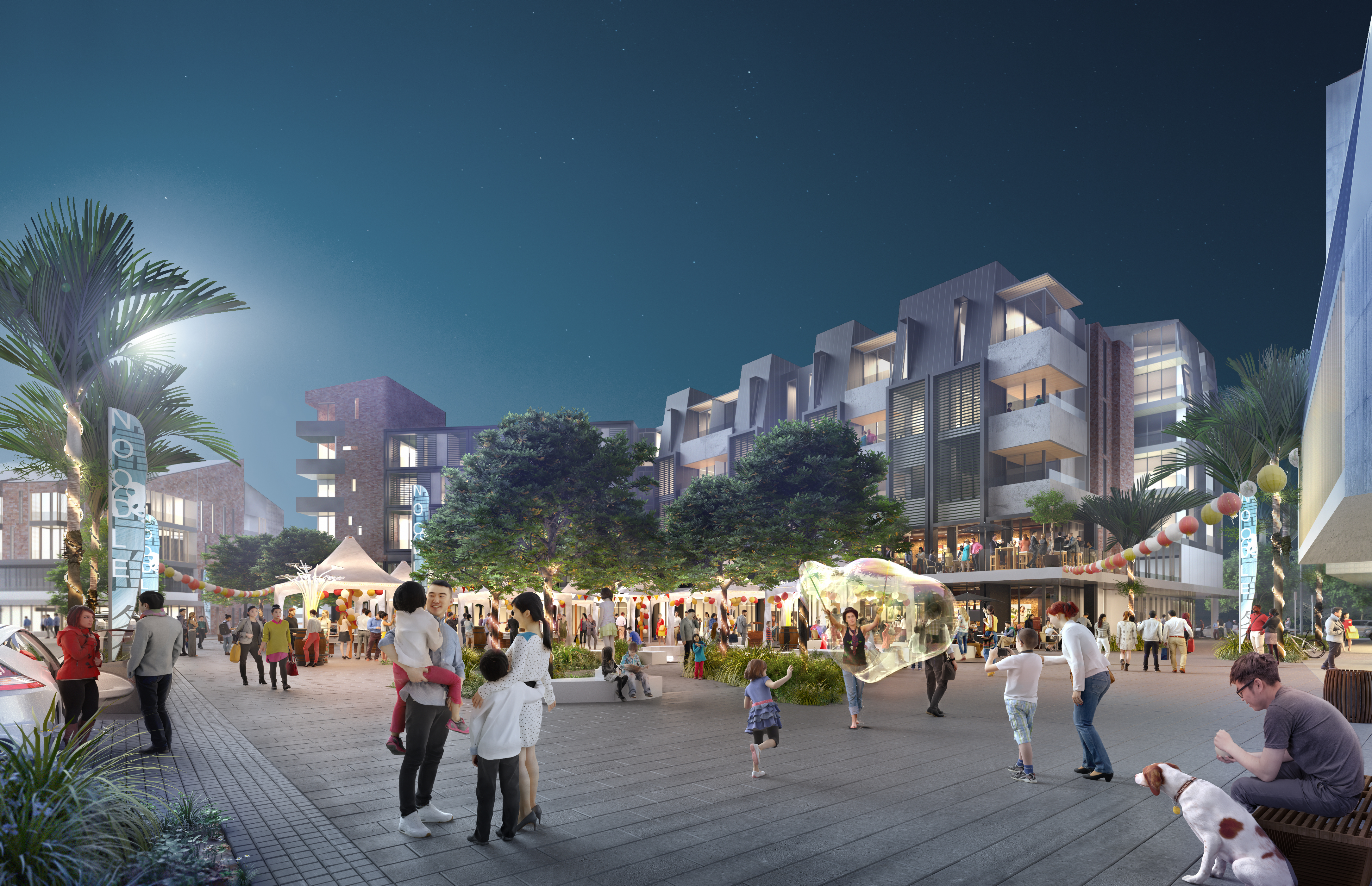 Northcote Town Square Render